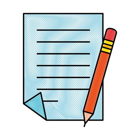 Document paper with pencil vector illustration design Illustration