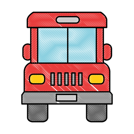 bus front isolated icon vector illustration design Zdjęcie Seryjne - 95614135