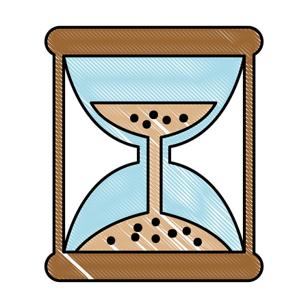 Hourglass time isolated icon vector illustration design Illustration