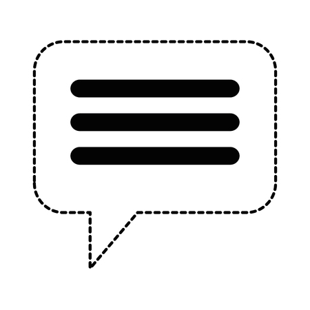 Speech bubble isolated icon in broken lines illustration design. 일러스트