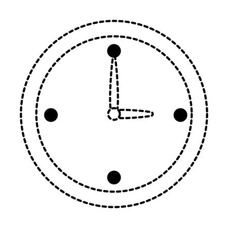 Time clock isolated icon in broken lines illustration design.