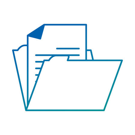 file folder isolated icon vector illustration design Stock Vector - 95611880