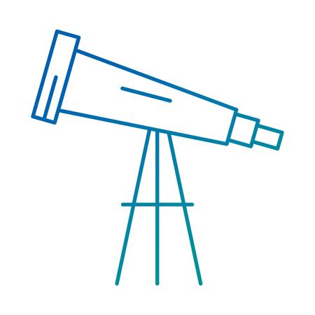 Dispositivo de telescopio icono aislado diseño de ilustración vectorial Foto de archivo - 95611883