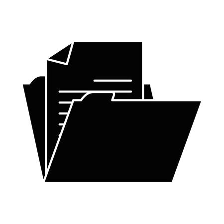 De illustratieontwerp van het dossieromslag geïsoleerd pictogram