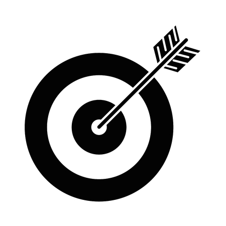Target with arrow icon illustration design
