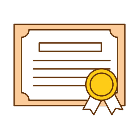 Graduation certificate isolated icon vector illustration design