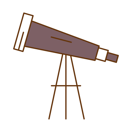 telescope device isolated icon vector illustration design Stok Fotoğraf - 95614177