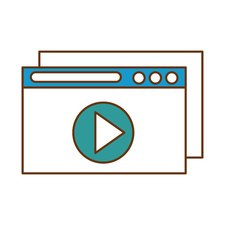 Template windows isolated icon vector illustration design