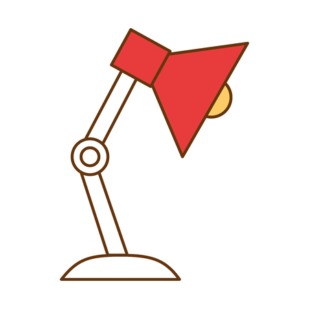 A desk lamp isolated icon vector illustration design