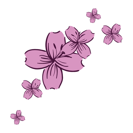 Beautiful floral decoration frame vector illustration design Stockfoto - 95612667