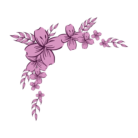 beautiful floral decoration frame vector illustration design