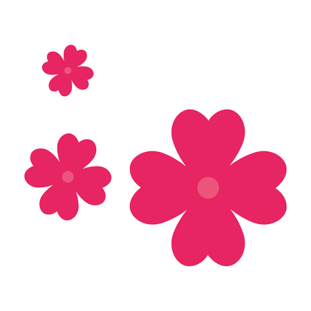 Beautiful pink floral decoration vector illustration design. Stock Illustratie
