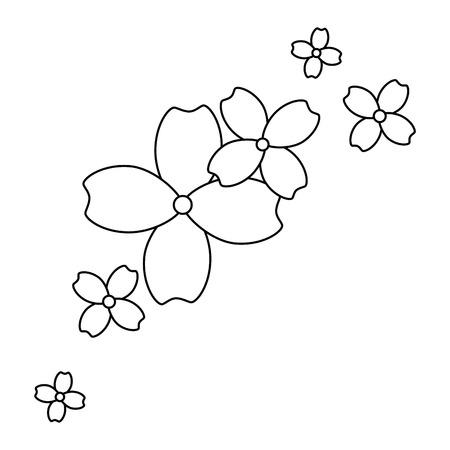 A beautiful floral decoration frame vector illustration design Stock Illustratie