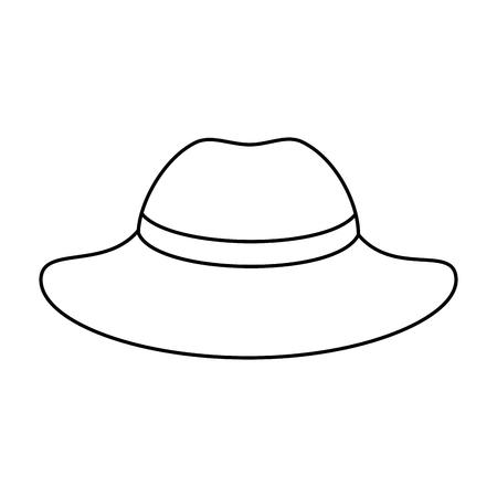 elegant female hat icon vector illustration design Stock Vector - 95614310