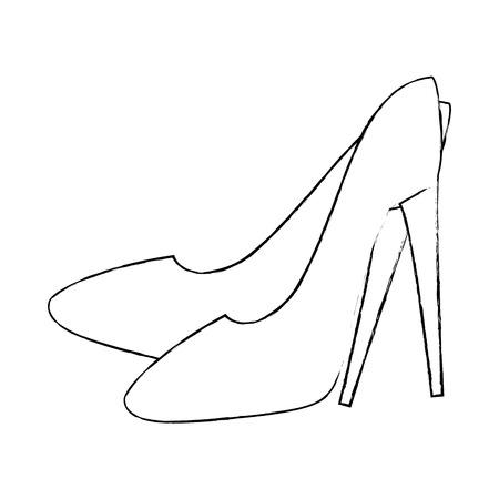 High heel shoes icon vector illustration design