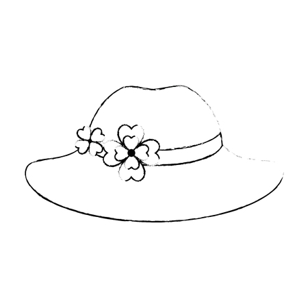 elegant female hat icon vector illustration design Stock Vector - 99060492