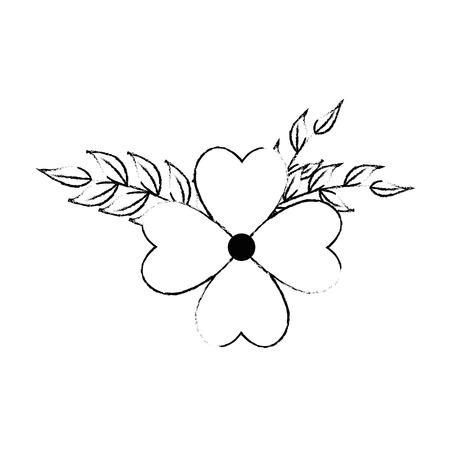 Beautiful floral decoration frame vector illustration design Stock Illustratie