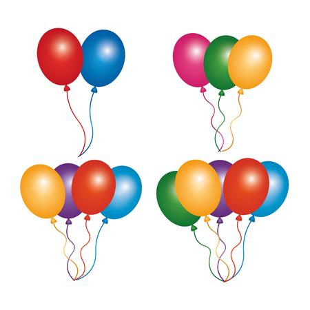 Ilustración de vector de decoración de globos de colores Foto de archivo - 95755992