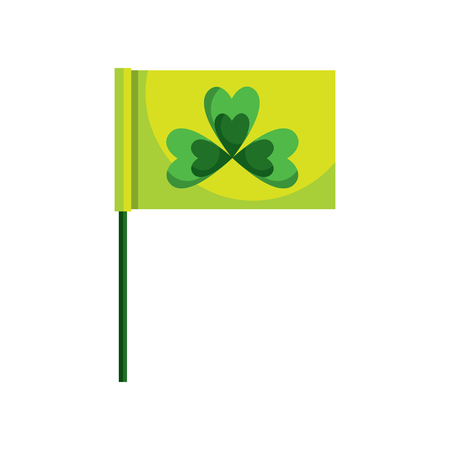 Flag with clover vector illustration
