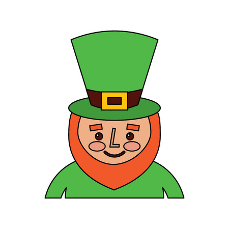 Kobold St. Patricks Day Cartoon Charakter Porträt Vektor-Illustration Standard-Bild - 95661112