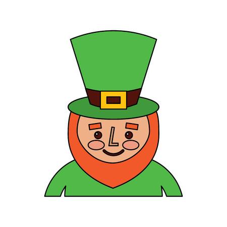 Leprechaun st patricks day cartoon character portrait vector illustration Foto de archivo - 95661112