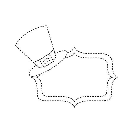 ヴィンテージボードブランクベクトルイラスト点線画像とレプレショーンの帽子