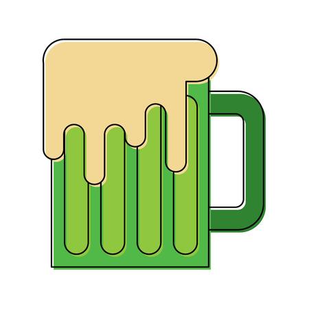 beer mug glass foam alcohol drink vector illustration Illusztráció