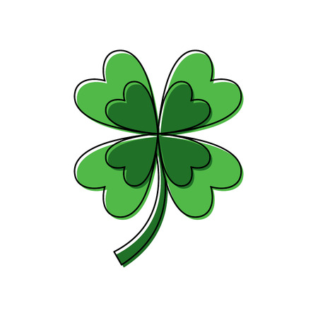 four leaf clover good luck symbol vector illustration