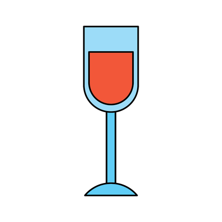 wine glass drink alcohol liquid icon vector illustration Illustration