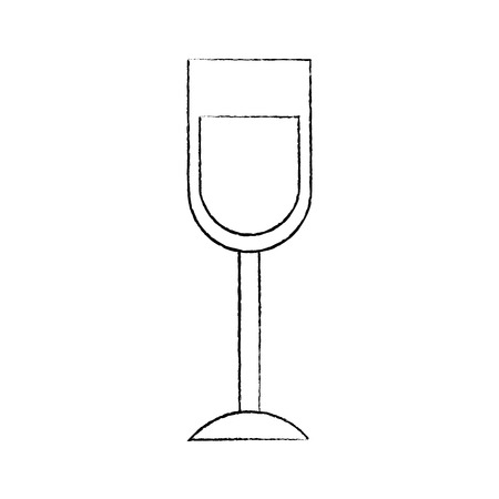 wine glass drink alcohol liquid icon vector illustration sketch image