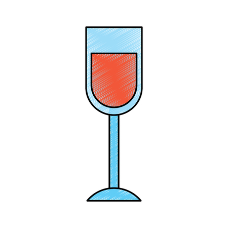wine glass drink alcohol liquid icon vector illustration drawing image