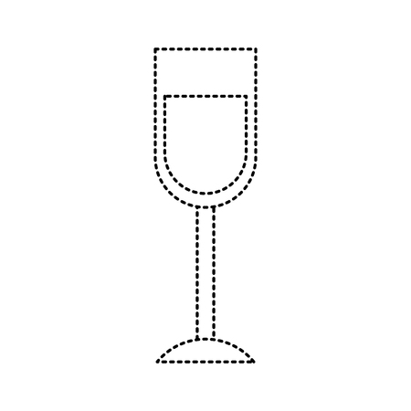 wine glass drink alcohol liquid icon vector illustration dotted line image