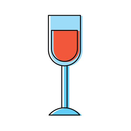 wine glass drink alcohol liquid icon vector illustration  イラスト・ベクター素材