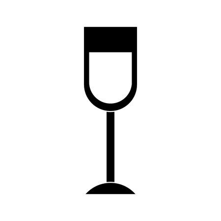 wine glass drink alcohol liquid icon vector illustration black and white image Stock Vector - 95713854
