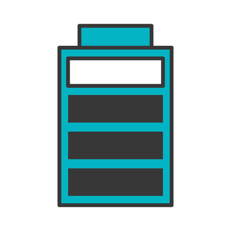 battery charging power energy icon vector illustration blue and black