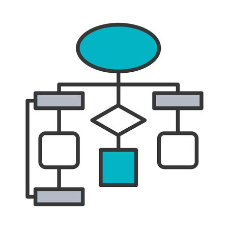 diagramme organigramme connexion vide illustration vectorielle