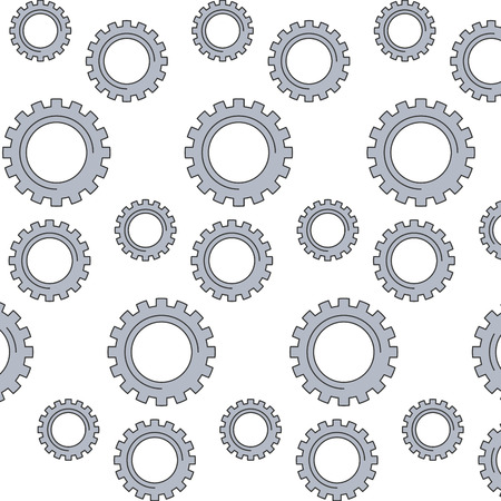 mechanical gears wheel technology pattern vector illustration Stok Fotoğraf - 95714159
