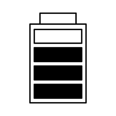 battery charging power energy icon vector illustration outline image Иллюстрация