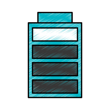 battery charging power energy icon vector illustration blue drawing