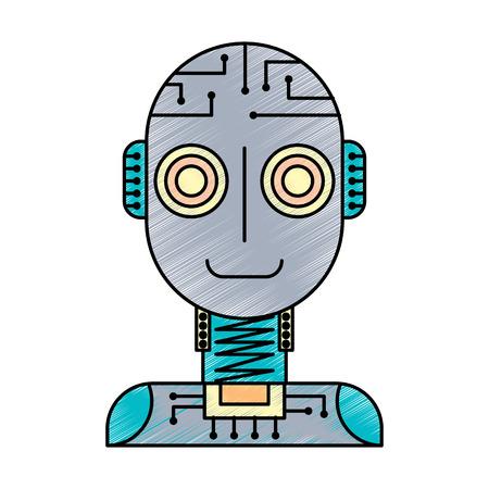 artificial intelligence robot machine technology futurist vector illustration