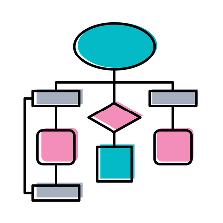 diagram flow chart connection empty vector illustration