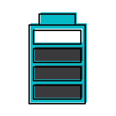 battery charging power energy icon vector illustration