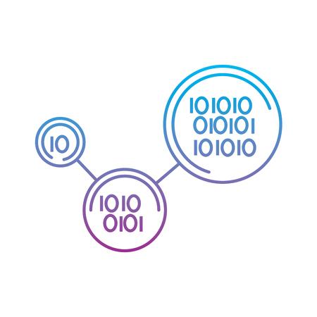 binary code digital technology program vector illustration Banco de Imagens - 95755234