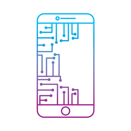 smartphone circuit processor technology device vector illustration Imagens - 95755149