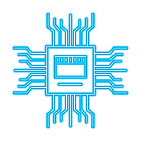 motherboard circuit high tech electric hardware icon vector illustration 일러스트
