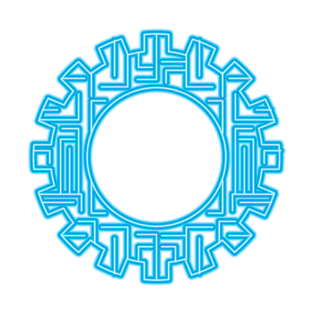 gear wheel and circuit board digital technology and engineering digital vector illustration