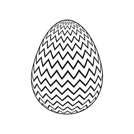 decorative easter egg zig zag ornament vector illustration
