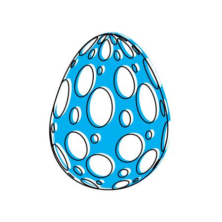 decorative easter egg ornament spotted vector illustration
