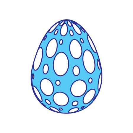 decorative easter egg ornament spotted vector illustration blue image