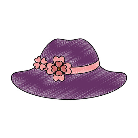elegant female hat icon vector illustration design